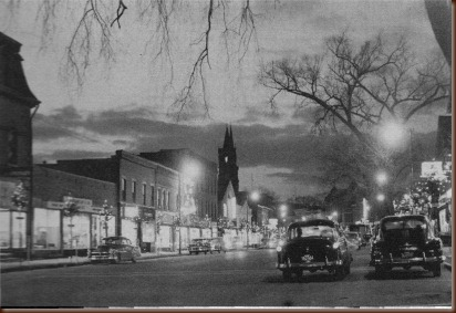 Ware Mass Main St looking wWst 1960