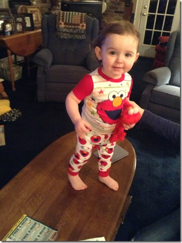 Knox in elmo jams  4 5 13