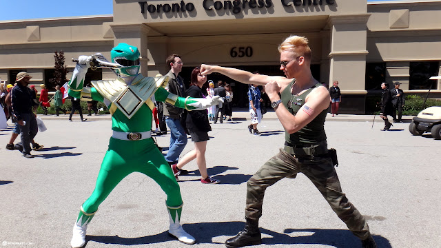 GUILE getting rid of this annoying GREEN power ranger in Toronto, Ontario, Canada