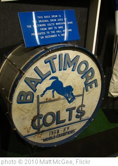 'Baltimore Colts drum' photo (c) 2010, Matt McGee - license: http://creativecommons.org/licenses/by-nd/2.0/