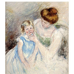 Cassatt, Mary ~Mother with Left Hand Holding Sara's Chin~