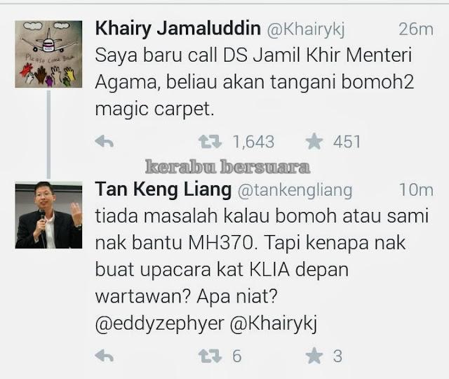 #pray4mh370: Khairy Pun Menyambah Dengan Raja Bomoh