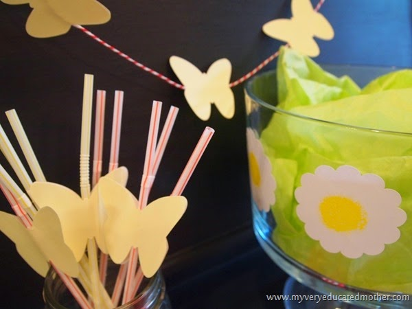 Garland, Straws, and Flowers