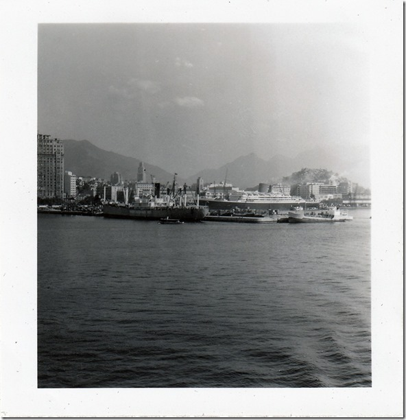 41 -  July 9, 1952 Rio de Janeiro, Brazil - View from the S.S. Brazil Photoshop Color Adjusted