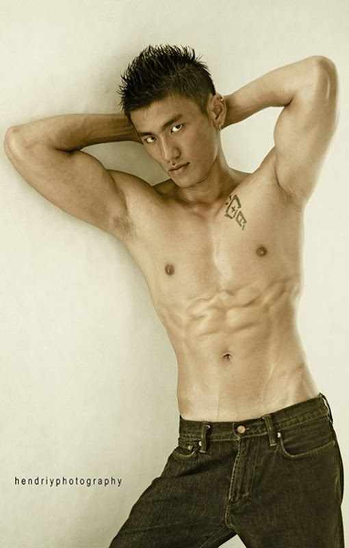 Asianmales-Little Shirtless Sexy with Unknown Male Model-07