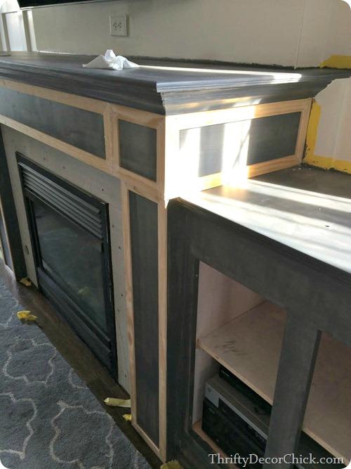 adding trim to fireplace