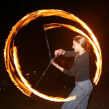 Bronwen fire twirling, Orleigh Park