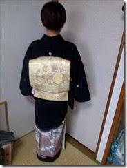 黒留袖の出張着付け (1)