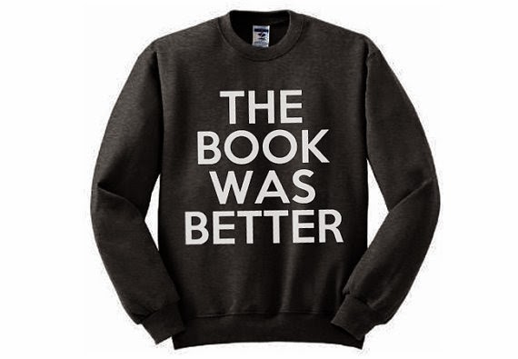 The Book Was Better Sweatshirt from Android Sheep FTW on Etsy