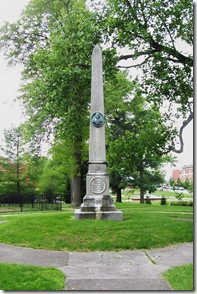 McDowell Monument and Burial Site on Presbyterian Church grounds
