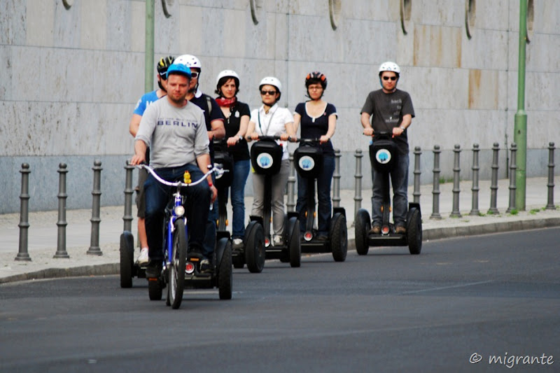 segways en fila - berlin