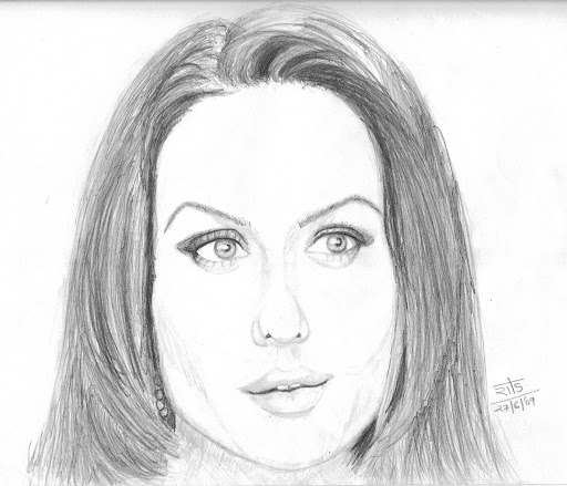Preity Zinta Pencil Sketches