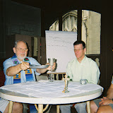 Paul O'Connor, SJ; Fr. Bill Creed, SJ; Br. Denis Weber, SJ; Matt Couture:  Bill Celebrating mass during an internship 2006