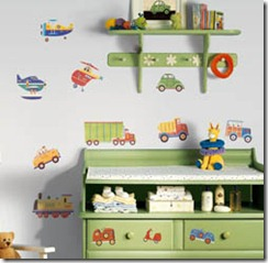Fabulous boys wall decal transport theme