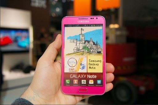 [Mobile] Galaxy Note Pink正式發表!粉紅色系搶佔女性市場?