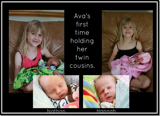Ava and twins