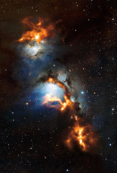 nuvens de poeira cósmica na M78
