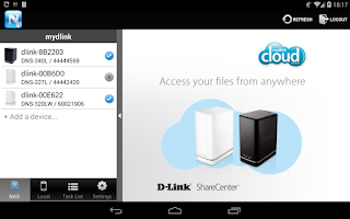 Screenshot of mydlink Access-NAS