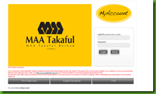 login my account maa takaful