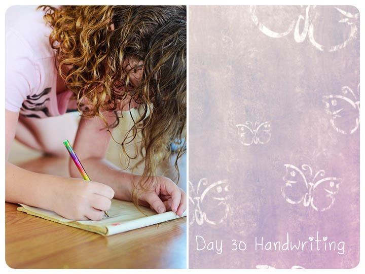 30 handwriting