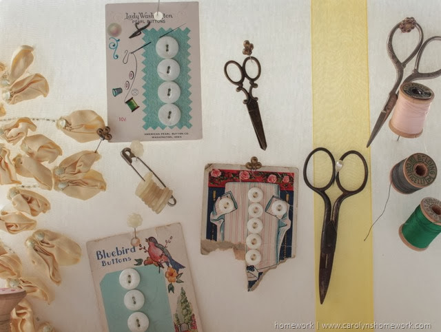 Foam for the Holidays - vintage sewing board via homework | carolynshomework.com
