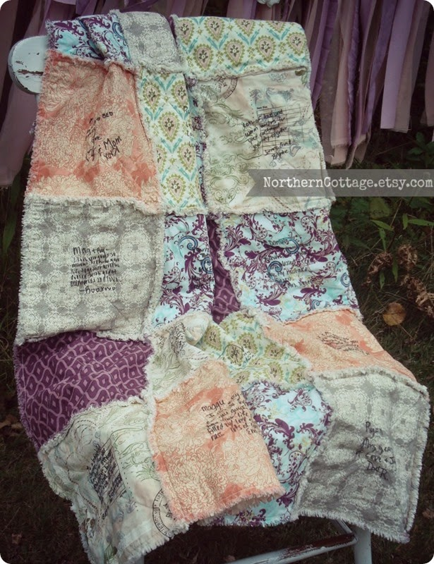 {NorthernCottage} Gorgeous Guestbook Quilt