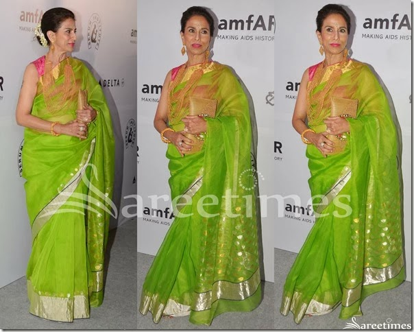 Shobha_De_Green_Silk_Saree