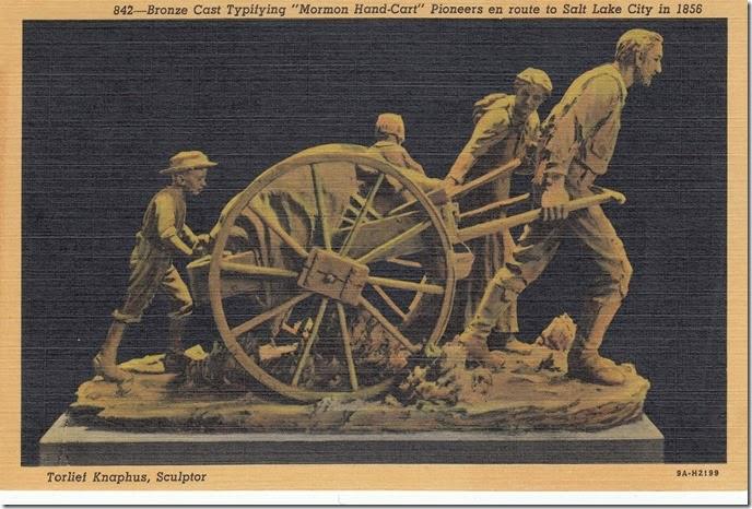 Handcart Pioneers Postcard