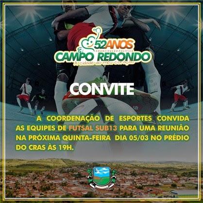 Futsal Sub 13 - 53 anos Campo Redondo