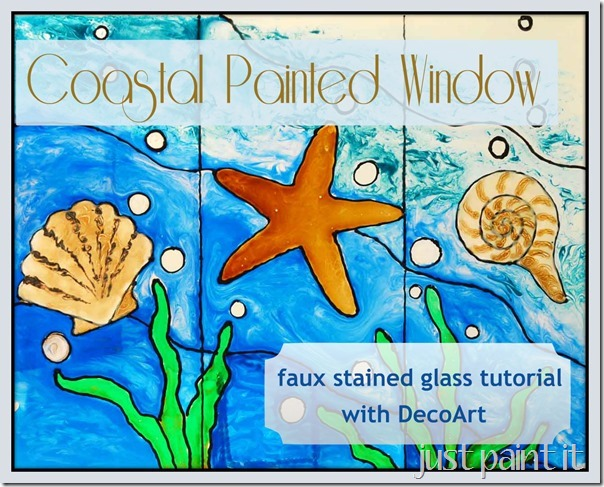 Coastal Painted Window #DecoArt