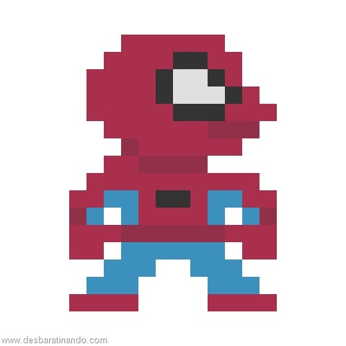 super herois e viloes em 8 bits homem aranha (5)