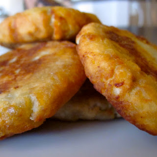 Sweet Potato Fritters with Prawn-Coconut Filling