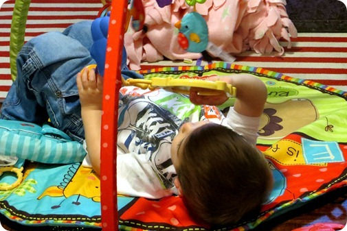 Twins in the Infant Play Gym