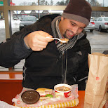 tim hortons breakfast in Collingwood, Ontario, Canada