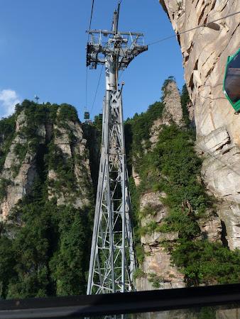 Imagini Zhangjiajie: telecabina Avatar