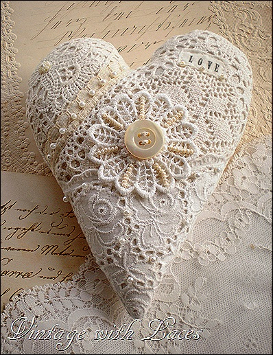 Lace Heart by Vintage with Laces