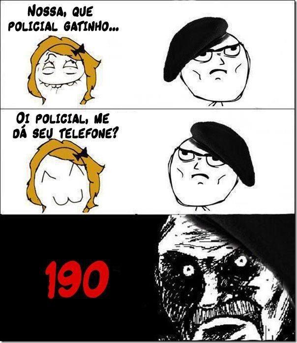 O numero do policial gatinho