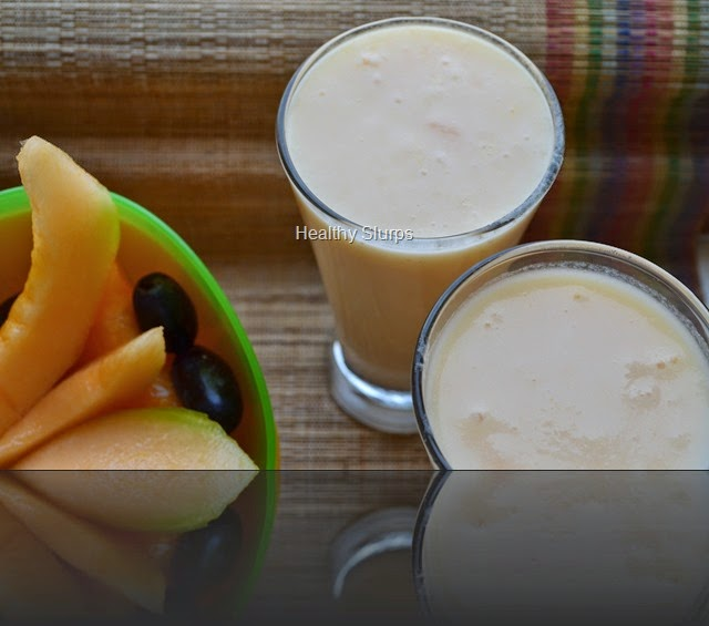 Enjoy the fruit and the smoothie!