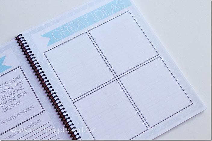 Blog Planner Brainstorm page