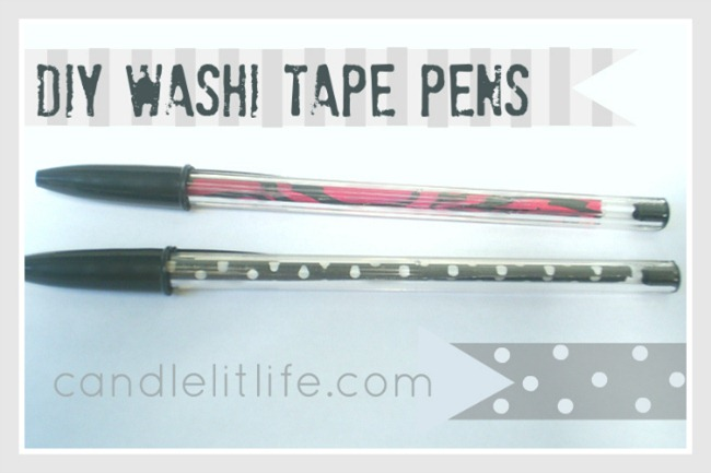 DIY Washi Tape Pens by Candle Lit Life