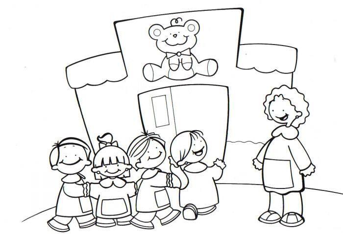 Imagenes para colorear de niños llegando a la escuela - Imagui
