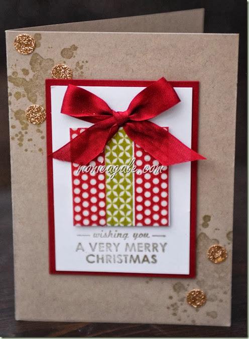Washi christmas gift