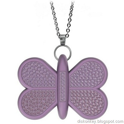 Butterfly pendant USB flash drive