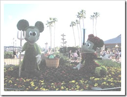 Florida vacation Epcot topiary Mickey and minnie2