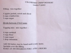 Cape Cod Columbus weekend 2012..Sat. Green Brier Jam Kitchen cranberry crisp dessert recipe