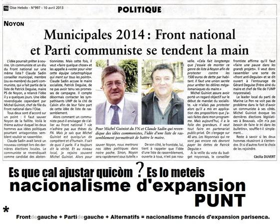 Nacionalisme francés d'expansion a l'esquèrra la pròba