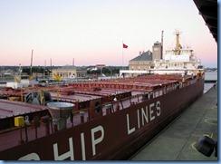 5252 Michigan - Sault Sainte Marie, MI - Soo Locks  - Canadian freighter Frontenac inside MacArthur Lock