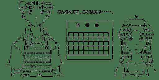 シンジ & ミサト あきれる (エヴァンゲリオン)