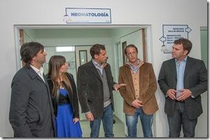 Juan Pablo de Jesús inauguró la nueva área de Pediatría y Neonatología del Hospital de Mar de Ajó