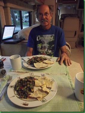 Black Bean salad with avacado lime dressing 002